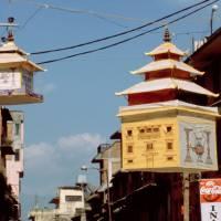 Královské město Patan: lampy po oslavě nepálského nového roku