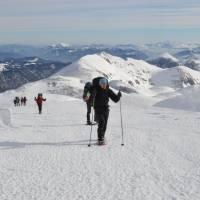 Na vrcholu Hochschwab (2277m), nejvyšší stejnojmenný vrchol celého pohoří.