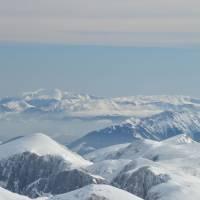 Hochschwab (2277m), pohled k východu, vzadu Rax