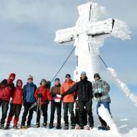 Hochschwab (2277m), společná vrcholová fotka