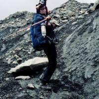 Hoper: na ledovci Bualtar. Jirka a Hanka