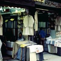 Láhaur, obchody s textilem