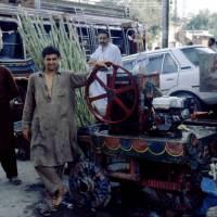 Péšávar, výroba nápoje z bambusu