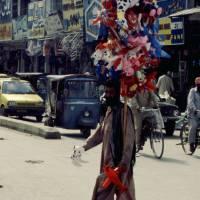 Rávalpindí, prodavač balónků