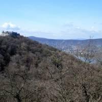 Vyšehradské vrchy, vyhlídka na Visegradský hrad