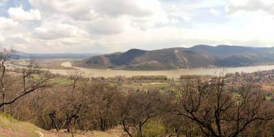 pohoří Börzsöny, místo Gubasci, vyhlídka na Višehradské vrchy a Dunaj