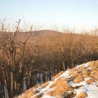 Börzsöny, na vrchu Nagy Hydeg Hegy (864 m), pohled na Csovanyos