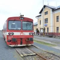 Šahy, nádraží, závěr pěšího putování přes Vyšehradské vrchy a Börzsöny.