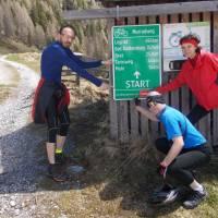 U Sticklerhütte, začátek Murské cyklostezky