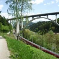 Před Judenburgem, dálniční most přes Muru. Foto K.S.