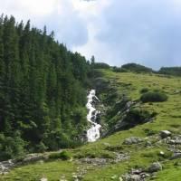 Retezat, vodopád u Stâna de Râu