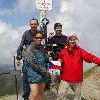 Făgăraş, Moldoveanu (2544 m), vrcholová fotka na nejvyšší hoře pohoří a celého Rumunska