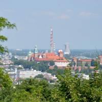 Pohled na město z Kosciuszkovy mohyly