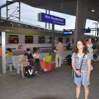 Odjezd z Vídně vlakem do Kolína n R.