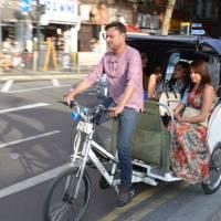 Londýn, taxík na lidský pohon