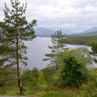 Pohled na jezero Loch Lomond