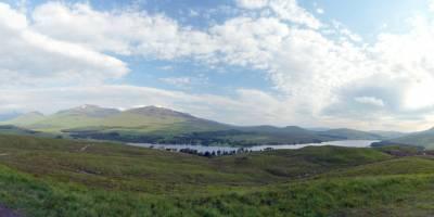 Výhled na Loch Tulla