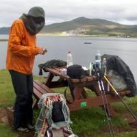 Skye,osada Peinachorrain, večerní vaření