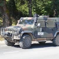 Pravoslavý klášter Veliki Dečani u Dečani v Kosovu; už řadu let hlídán vojáky KFOR