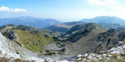 Ljumbardská planina, hora Žuty kamen, pohled k severu