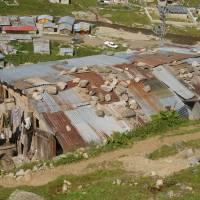 Kaçkar, střecha v osadě Kavron