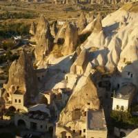Kapadocie, domy v Göreme