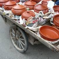 Kaçkar, prodej keramiky v městečku pod horami (foto Darča)