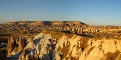 Kapadocie, západ slunce nad Göreme
