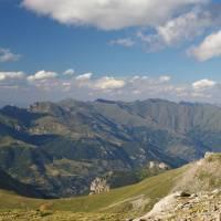 Šar planina, pohled z vrcholu Titov vrv (nejvyšší hora pohoří) k severu