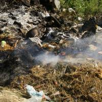Šar planina, pálení odpadu