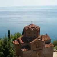Ohrid, na břehu Ohridského jezera
