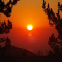 Olymp, východ slunce