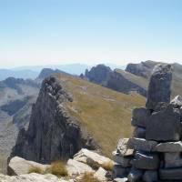 Řecko, pohoří Pindos, z vrcholu hory Gamila