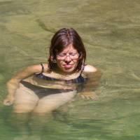Řecko, pohoří Pindos, koupel v přehrádce