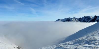 Na Kasprově vrchu, pohled na Vysoké Tatry