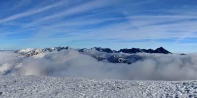 Červené vrchy, Malolúčniak, pohled na Vysoké Tatry, vpravo Kriváň