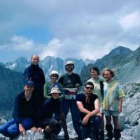 """""""vrcholovka"""" v sedle pod Maja e Jezerce, kam jsme z nedostatku času (ranní bloudění ve složitém terénu, žádné značky) nevystoupali"""