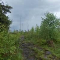 Velmi plochý hřeben hory Kyčera