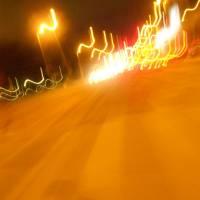 Noční krátká cyklojízda po Vídni (při přestupu z vlaku na vlak)