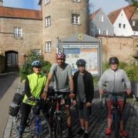 Začátek cesty Via Claudi Augusta, město Donauwörth na Dunaji
