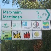 Začátek cesty Via Claudi Augusta ve městě Donauwörth na Dunaji
