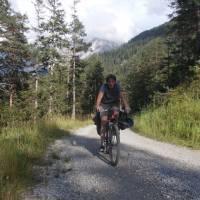 Výjezd do sedla Fernpass, první velký alpský průsmyk