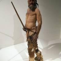 Rekonstrukce možné podoby Ötziho v muzeu v Bolzánu