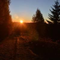 Nad Vernárem, východ slunce