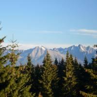 První výhled na Vysoké Tatry od Predné hoľe