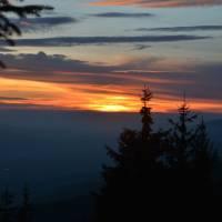 Sedlo Andrejcová, západ slunce