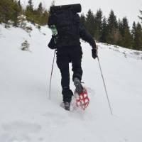 Výstup v (vzácných) hromadách sněhu na Herrenkogel