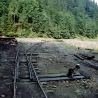 Maramureş – lesní železnice (výhybky) v údolí Apa (Vaser)