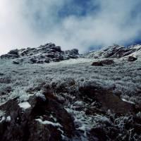 Rodna – jinovatka pod vrcholem Pietrosul