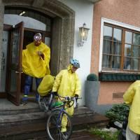 Salzburg (ráno za deště u penziónu, než se déšť změnil ve sněžení); foto KS